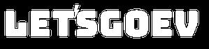 LetsGoEV White Logo